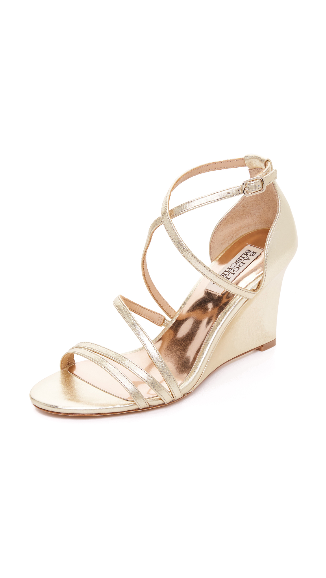 badgley mischka female badgley mischka bonanza wedges platino