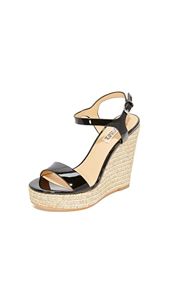 Badgley Mischka Bermuda Espadrille Wedges - Black