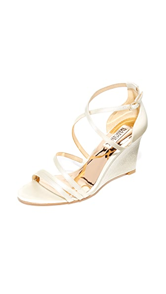Badgley Mischka Bonanza Wedge Sandals - Ivory