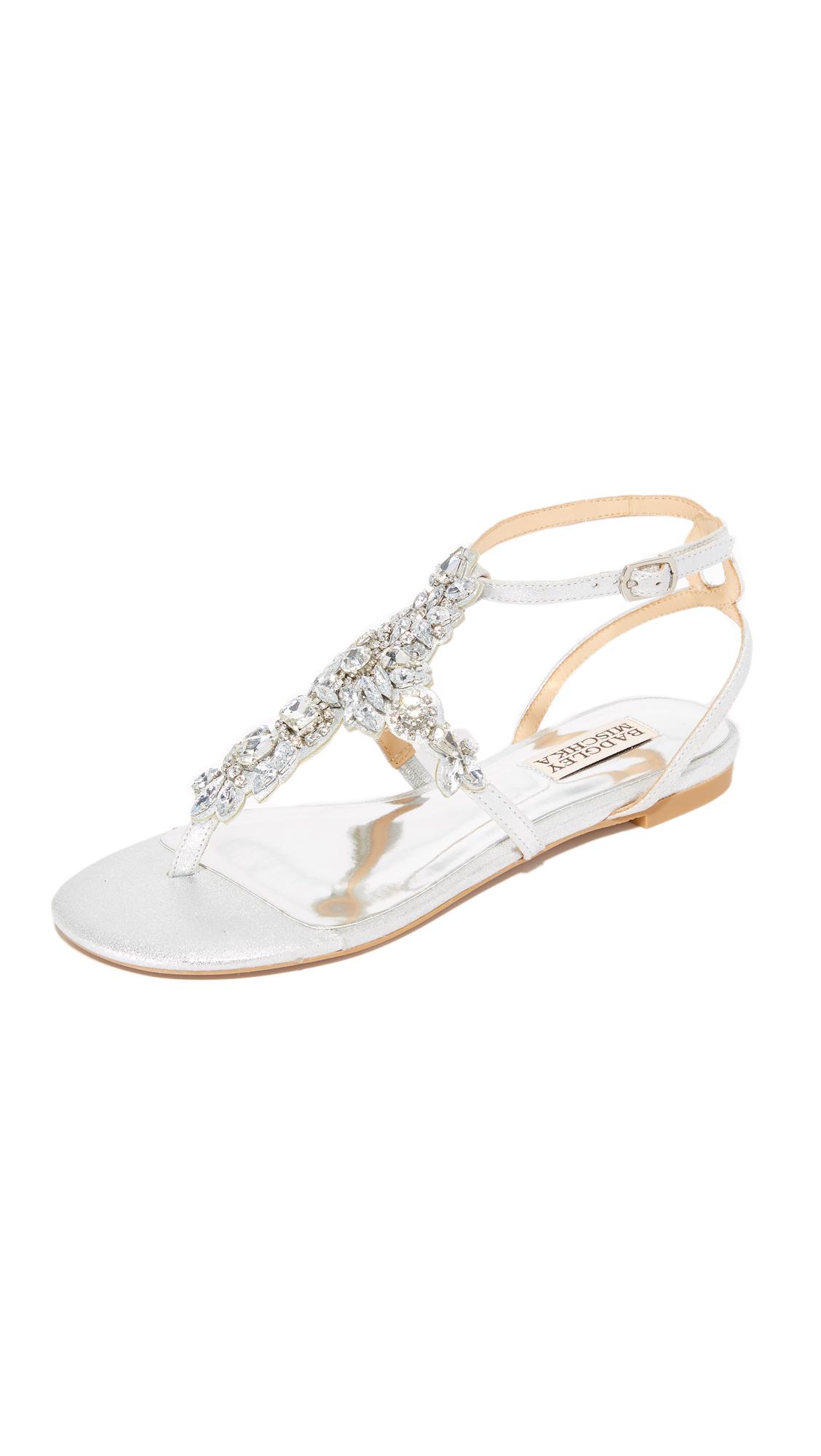 Photo of Badgley Mischka Cara Ii Sandals Silver - Badgley Mischka online