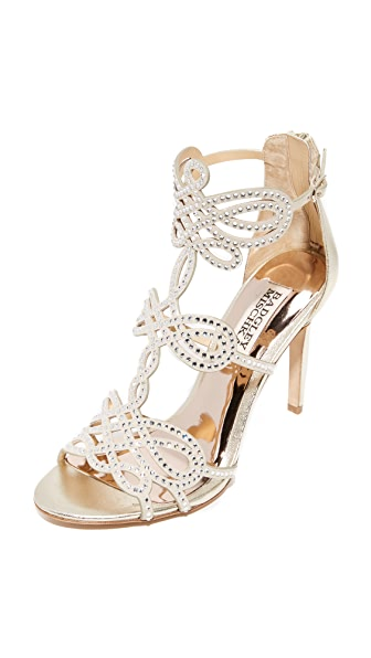 Badgley Mischka Teri Sandals - Platino