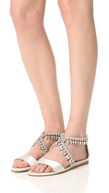 Badgley Mischka Tristen Embellished Sandals