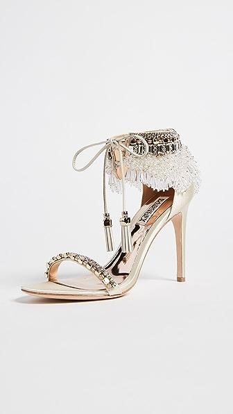 Badgley Mischka Katrina Embellished Sandals - Ivory