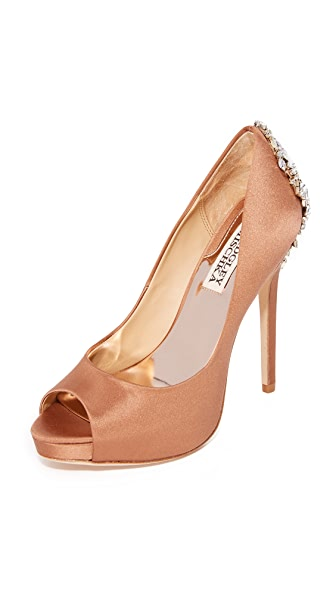 Badgley Mischka Kiara Pumps - Dark Nude