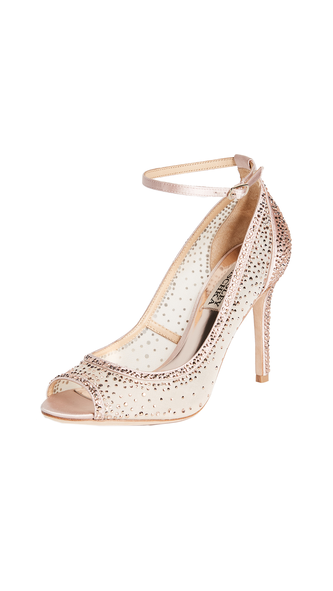 Badgley Mischka Weylin Open Toe Pumps - Blush