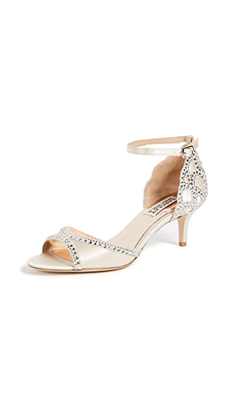 Badgley Mischka Gillian Open Toe Sandals In Ivory