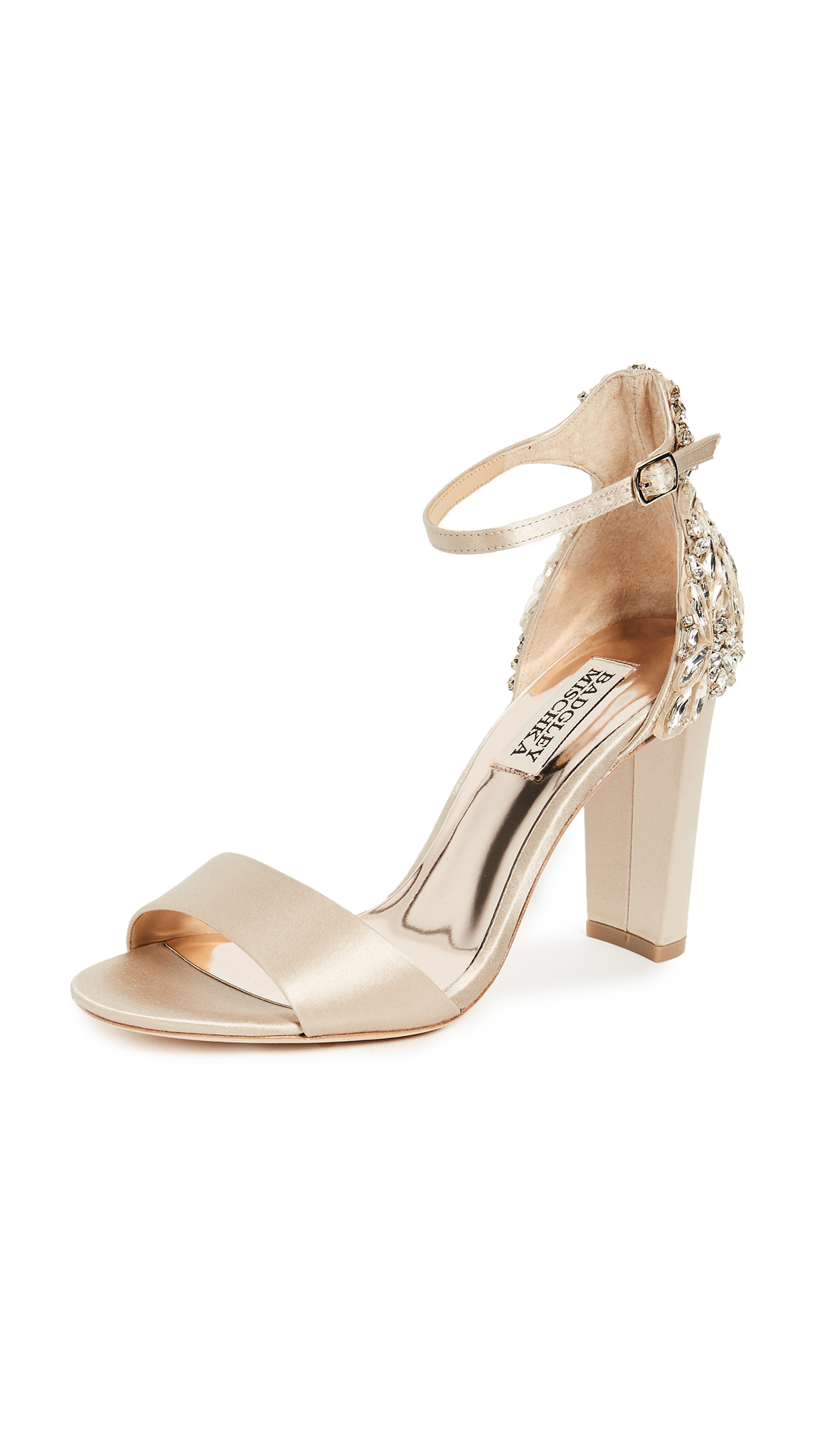 Badgley Mischka Seina Ankle Strap Sandals - Nude