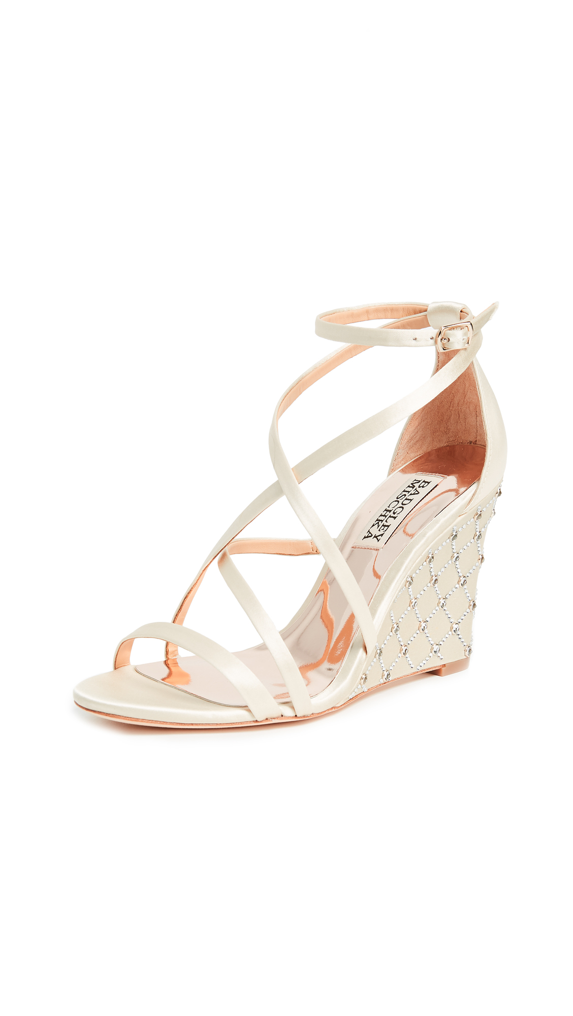 Badgley Mischka Shelly Wedge Sandals - Ivory