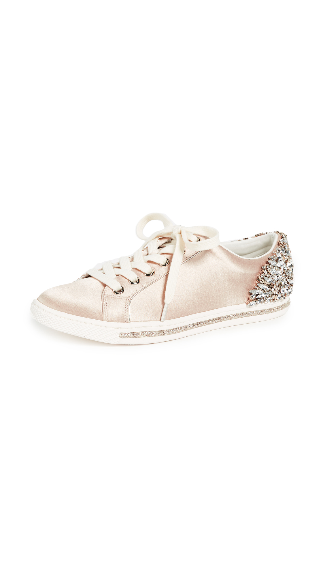 Badgley Mischka Shirley Lace Up Sneakers - Nude