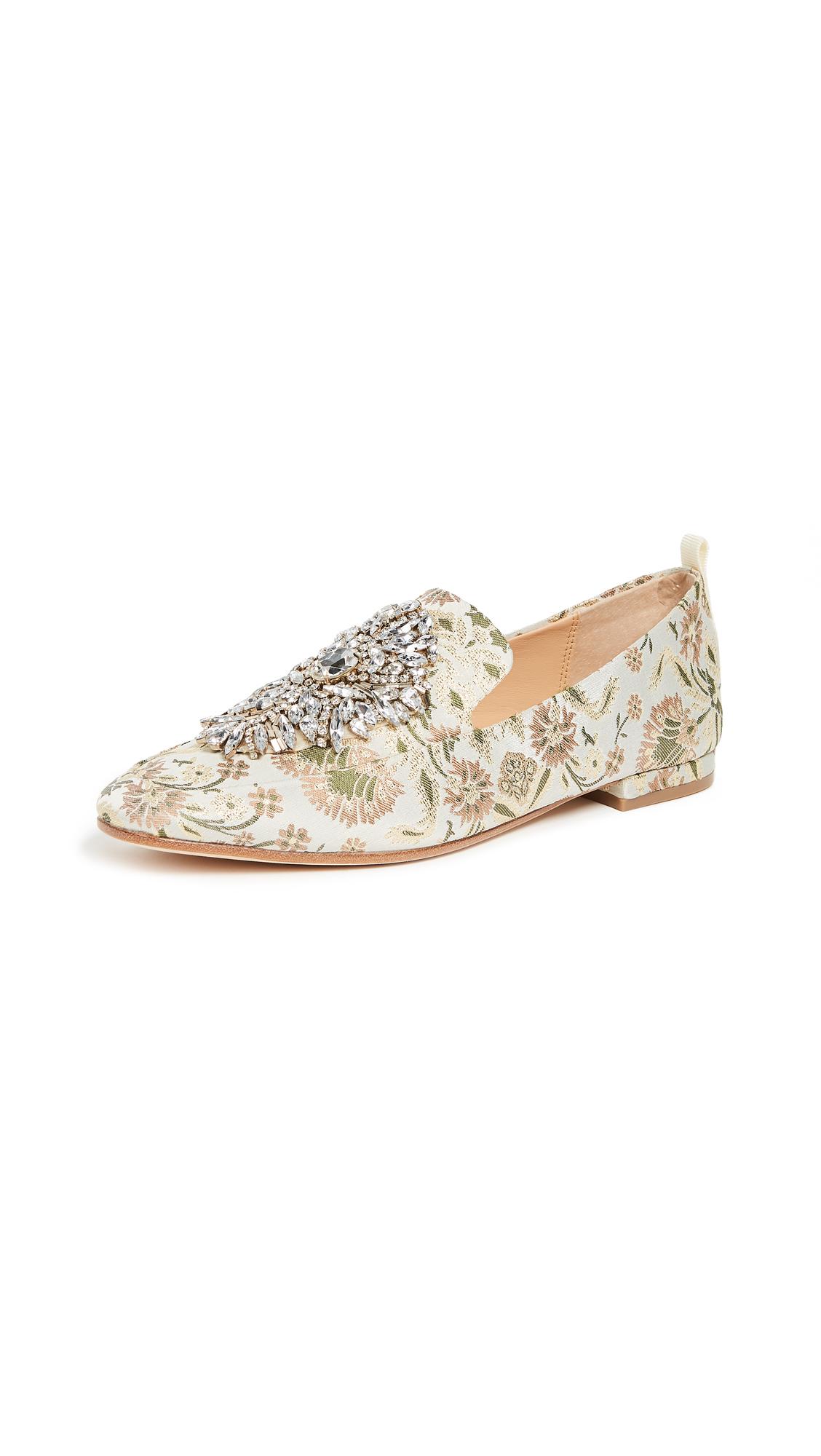 Badgley Mischka Salma Printed Loafers - Ivory
