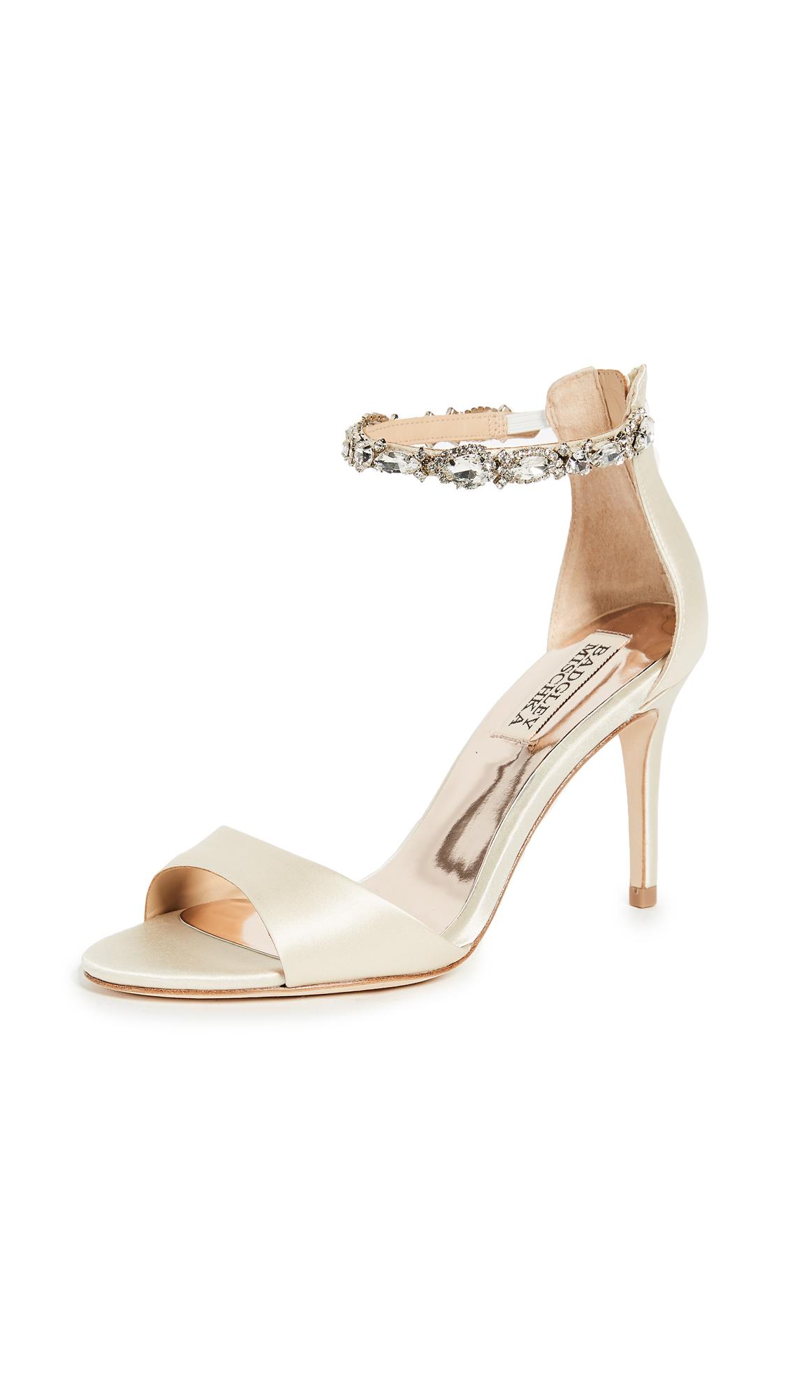 Badgley Mischka Sindy Ankle Strap Sandals - Ivory