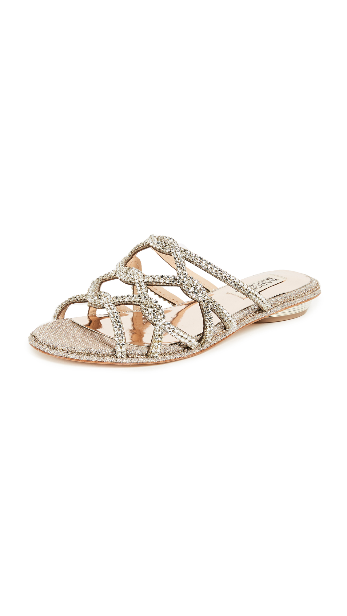 Badgley Mischka Sofie Slides - Platino
