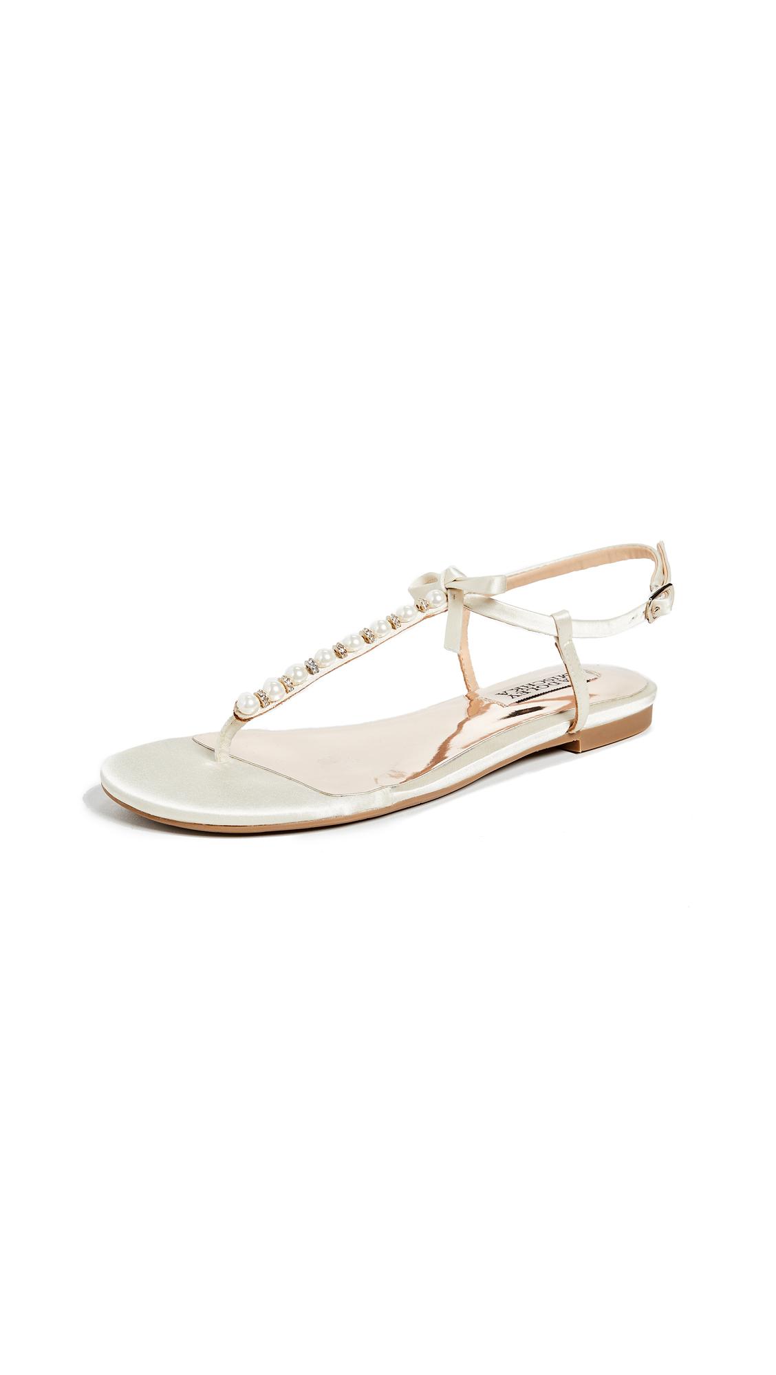 Photo of Badgley Mischka Honey Imitation Pearl T-Strap Sandals - buy Badgley Mischka shoes