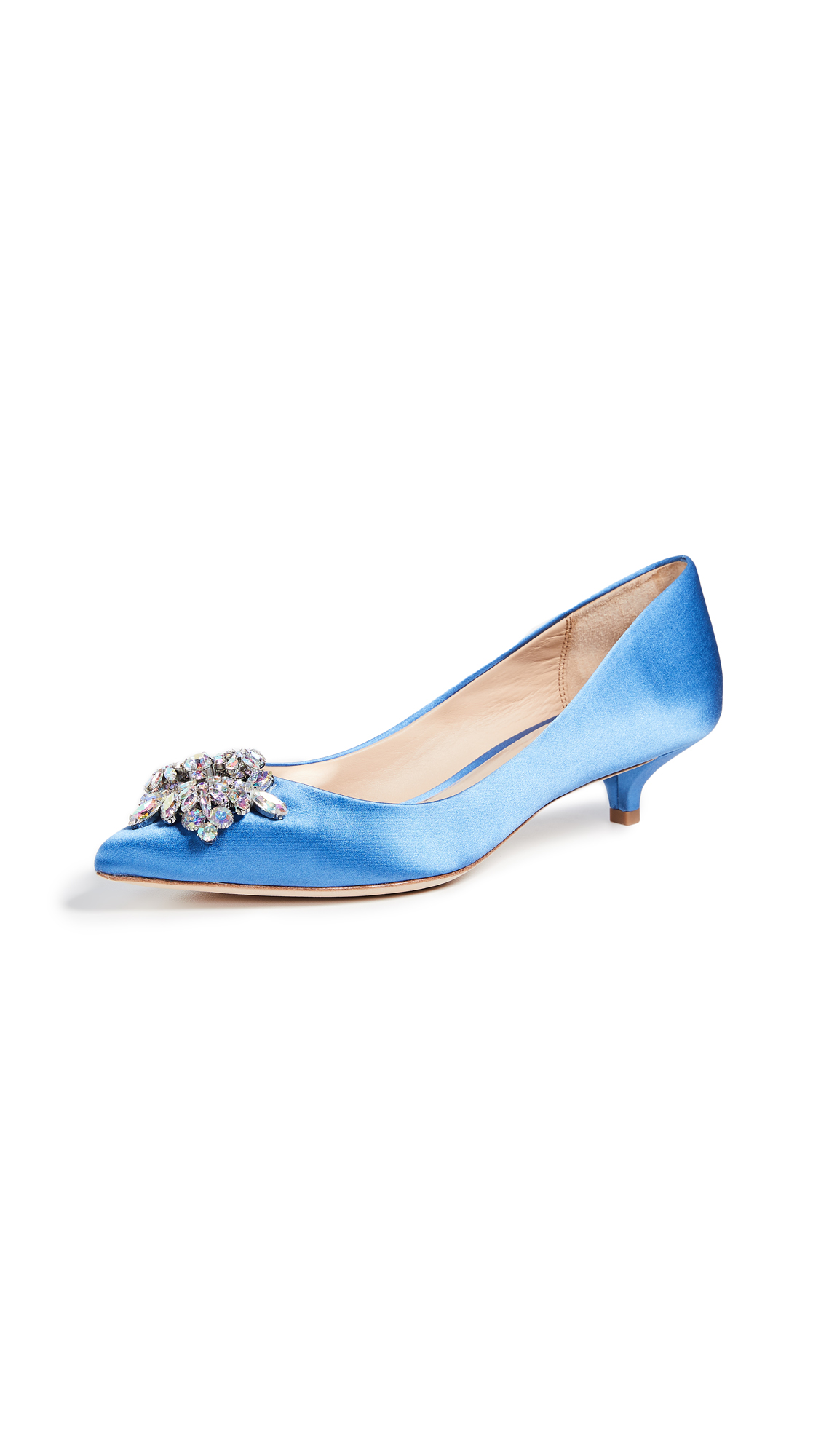 Badgley Mischka Vail Kitten Heel Pumps - Sky Blue