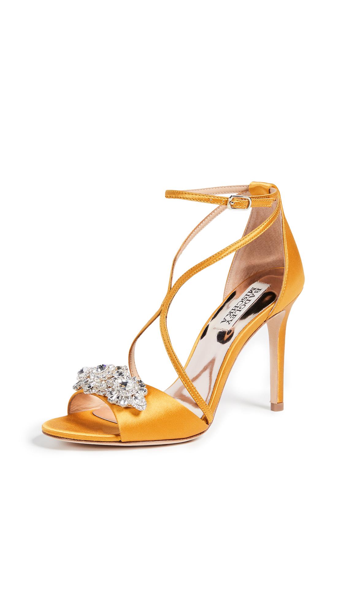 Badgley Mischka Vanessa Strappy Sandals - Old Gold