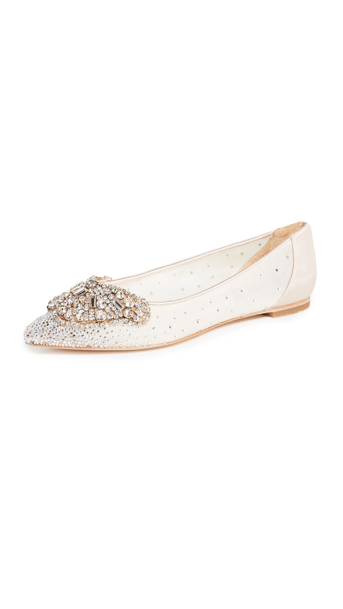 Badgley Mischka Quinn Point Toe Flats