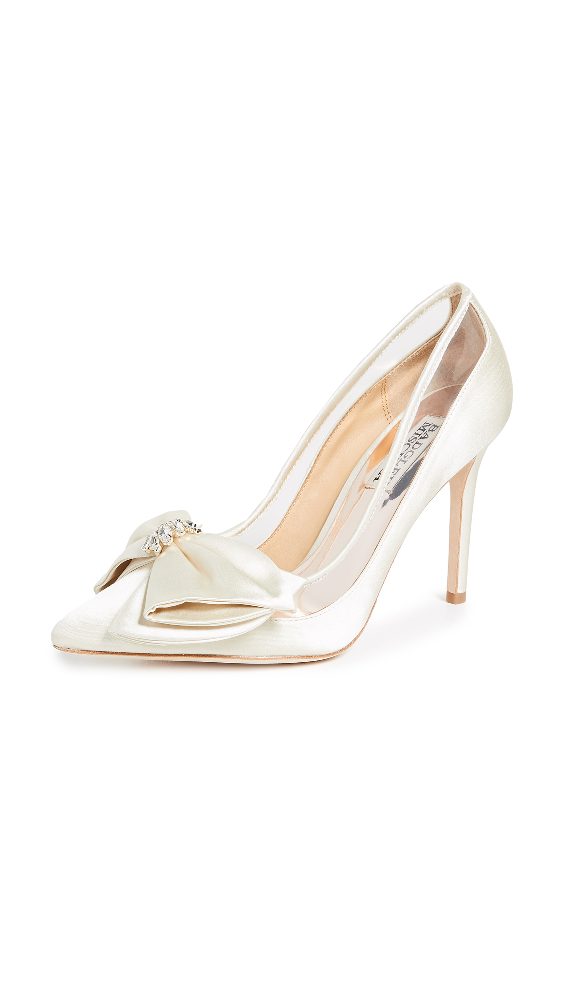 Badgley Mischka Frances Point Toe Pumps - Ivory