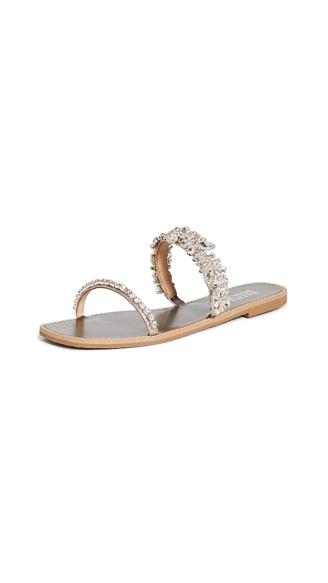 Buy Badgley Mischka Jenelle Slide Sandals online, shop Badgley Mischka