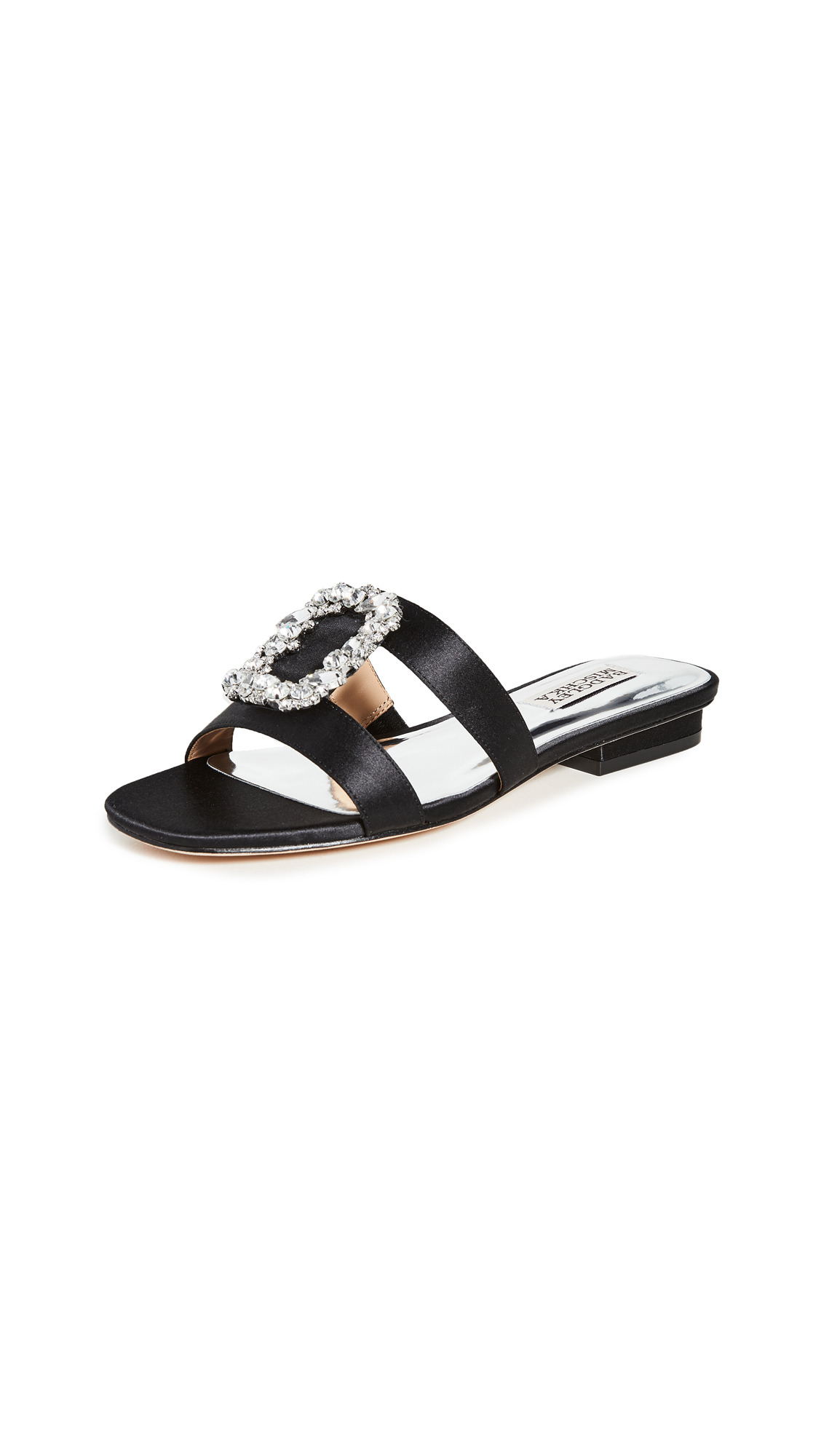 Buy Badgley Mischka Josette Slide Sandals online, shop Badgley Mischka