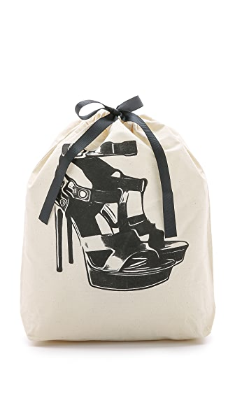 Bag-all High Heel Sandal Organizing Bag - Natural/Black