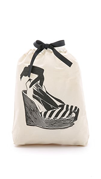 Bag-all Espadrille Organizing Bag - Natural/Black