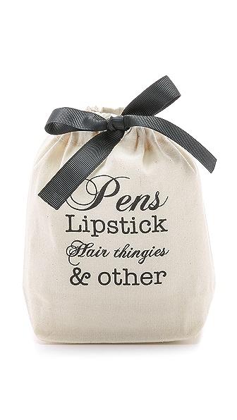 Bag-all Pens, Lipstick, Etc Small Organizing Bag - Natural/Black