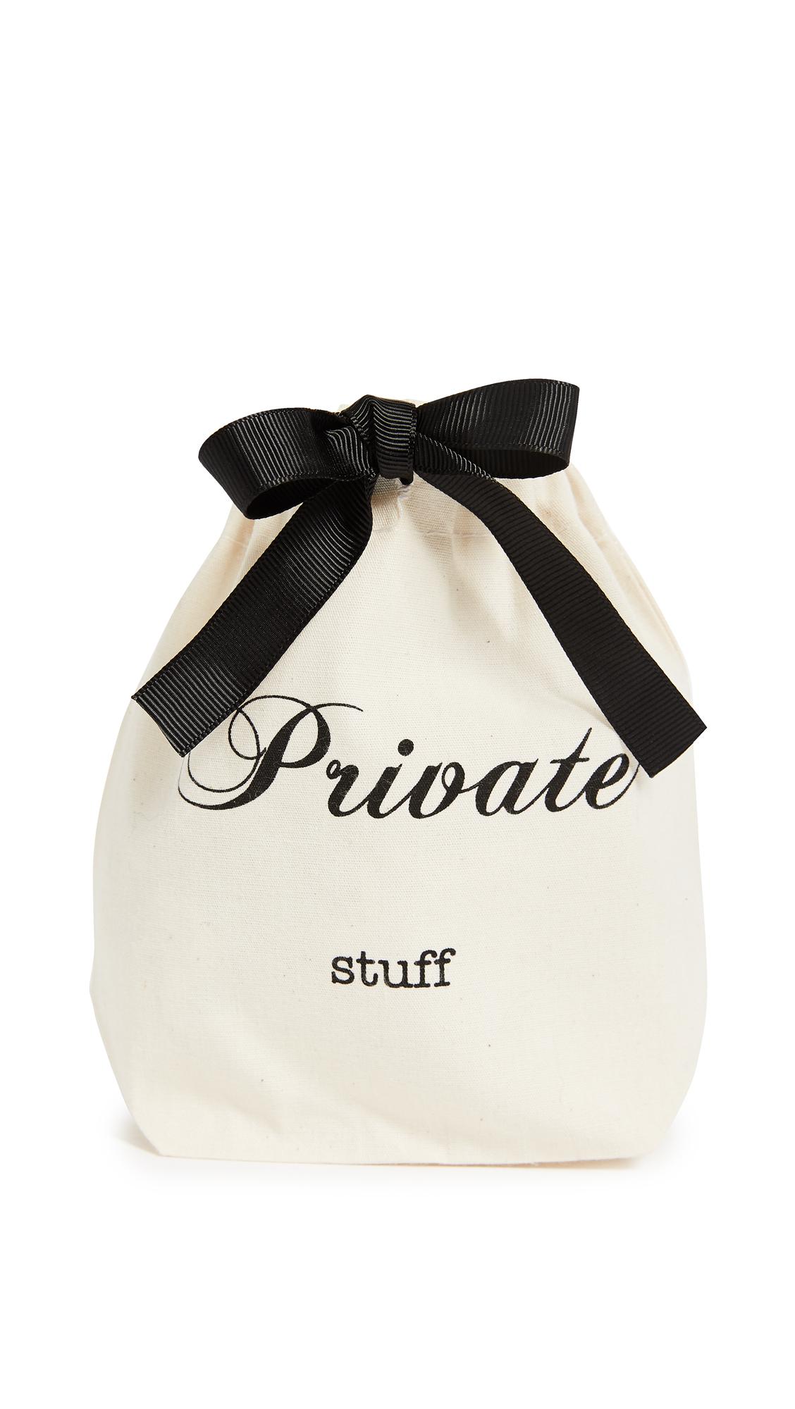 Bag-all Private Stuff Small Organizing Bag - Natural/Black