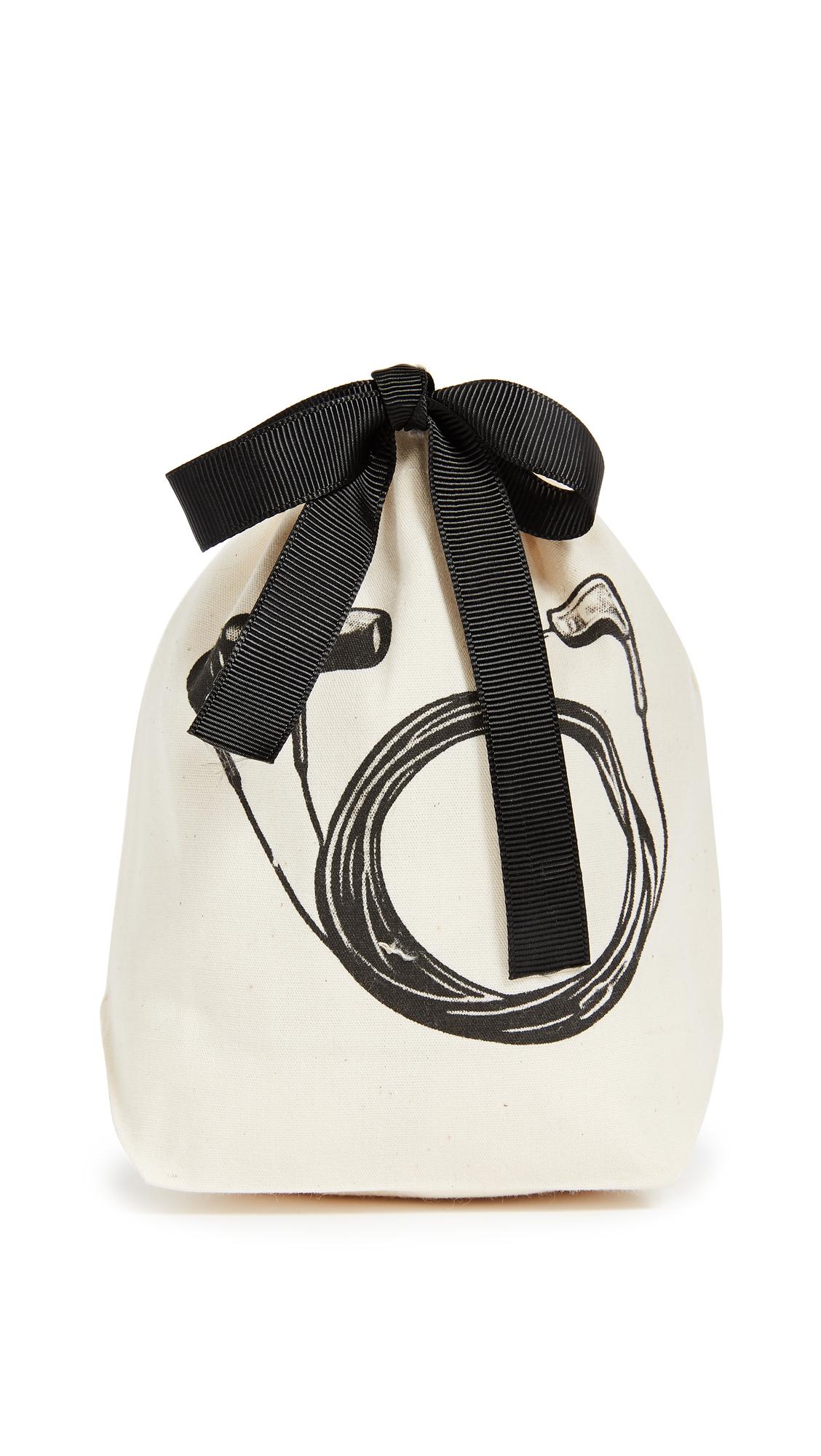 Bag-all Earbud Small Organizing Bag - Natural/Black