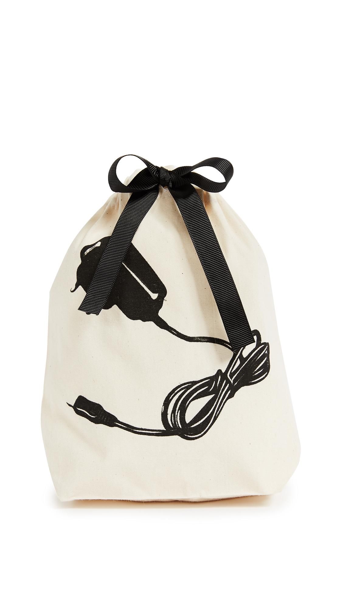 Bag-all Charger Small Organizing Bag - Natural/Black