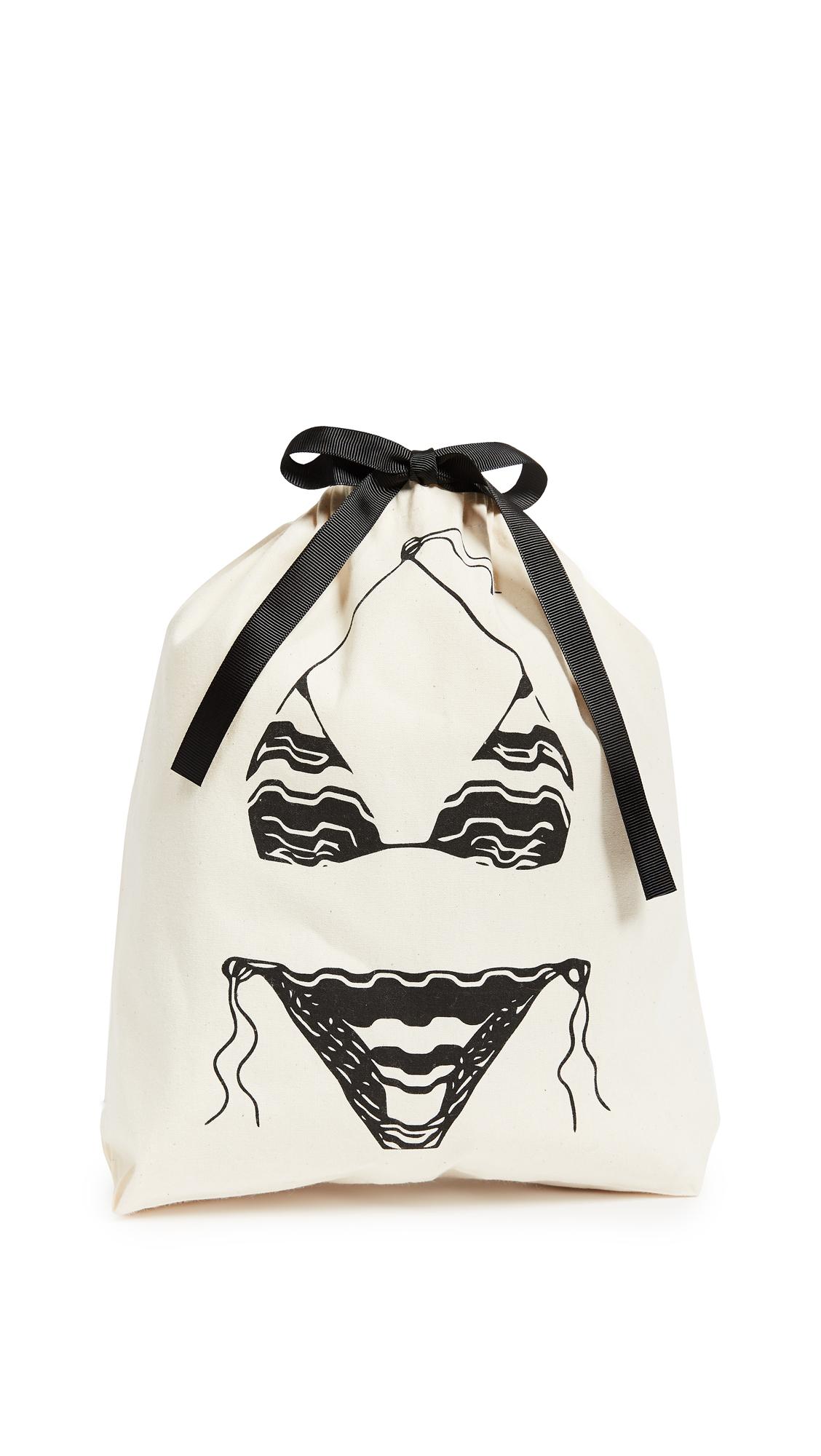 Bag-all Bikini Organizing Bag - Natural/Black