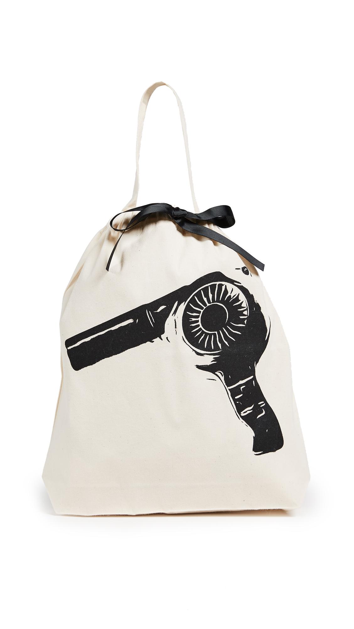 Bag-all Hairdryer Organizing Bag - Natural/Black