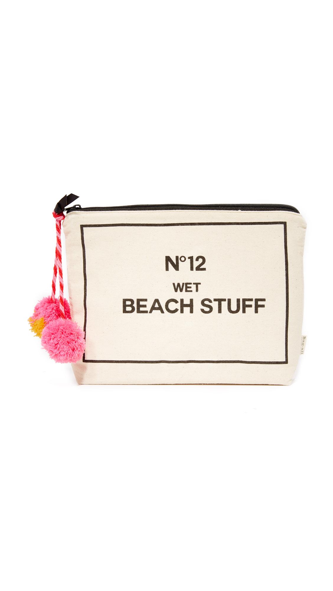 Bag-all Beach Stuff Bag - Natural/Black
