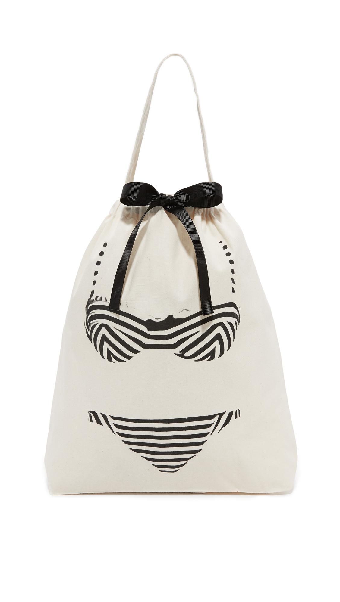 Bag-all Bikini Travel Bag - Natural/Black