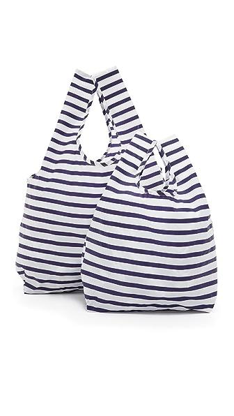 Baggu Standard Baggu Bag Set - Sailor Stripe