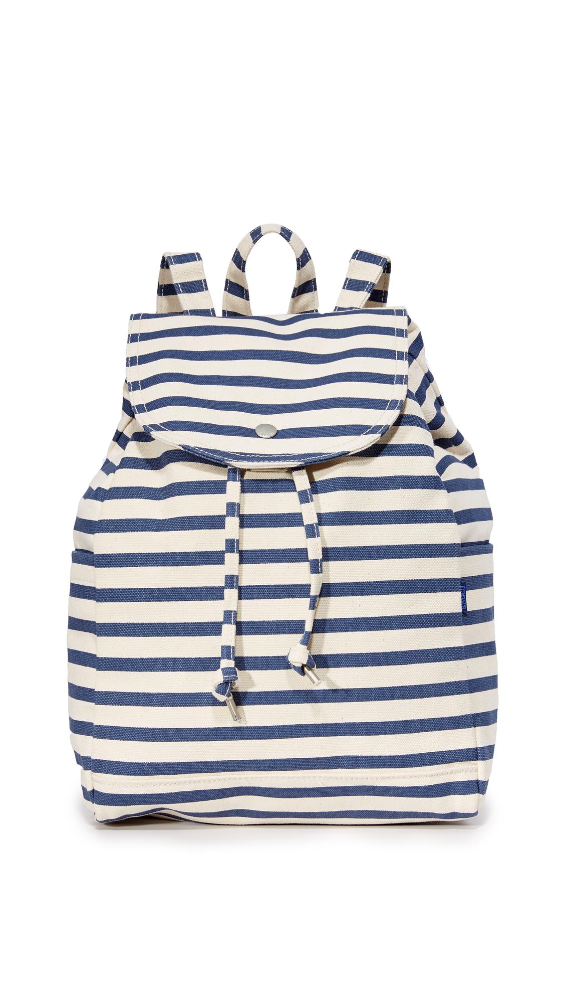BAGGU Drawstring Backpack - Sailor Stripe