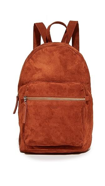 BAGGU Suede Backpack - Rust