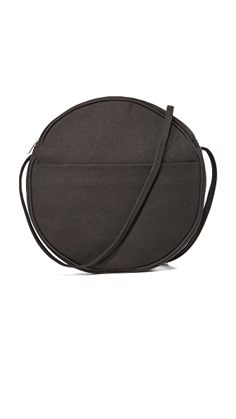 BAGGU Large Canvas Circle Purse - Black