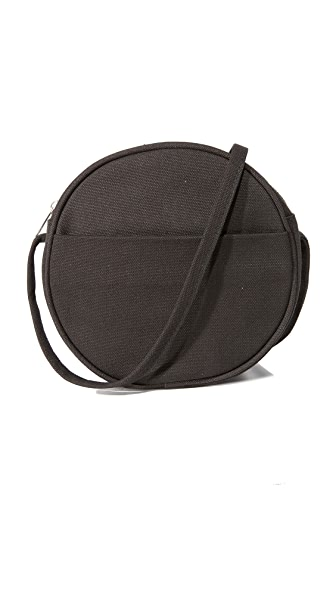 BAGGU Small Canvas Circle Purse - Black