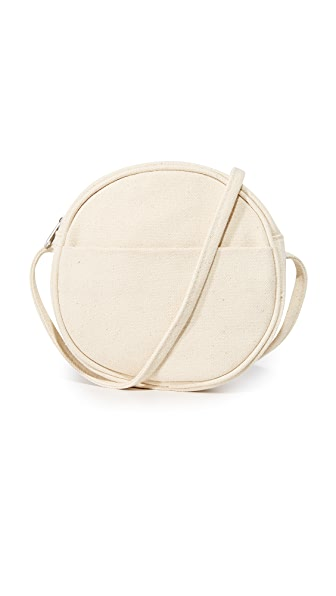 BAGGU Small Canvas Circle Purse - Canvas