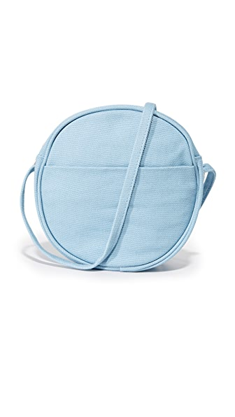 BAGGU Small Canvas Circle Purse - Washed Blue