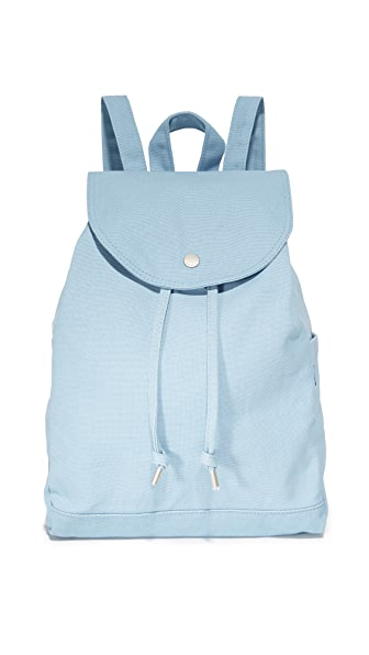 BAGGU Drawstring Backpack - Washed Blue