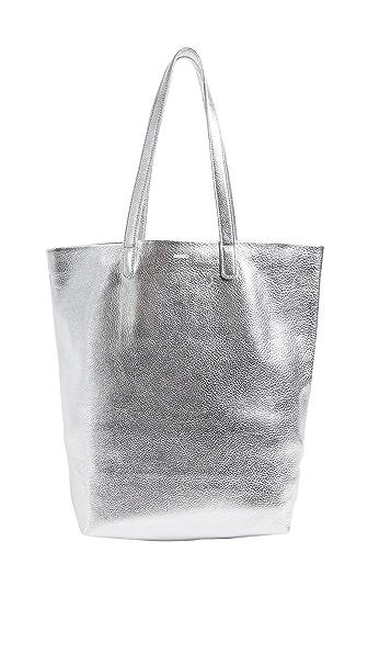 BAGGU Basic Tote In Silver