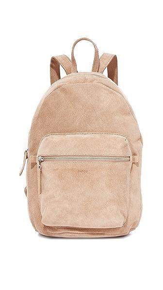 BAGGU Leather Backpack In Dune