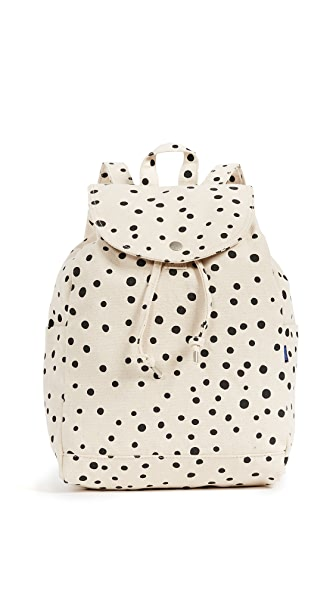 BAGGU Drawstring Backpack In Painted Dot