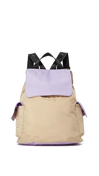 Bag Studio Backpack - Taupe/ Lavender