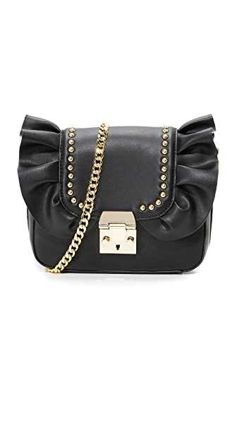 Studio 33 Damn Gina Ruffle Cross Body Bag - Black