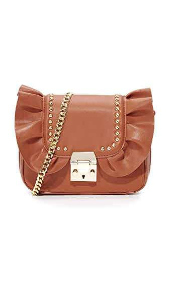 Studio 33 Damn Gina Ruffle Cross Body Bag - Tan