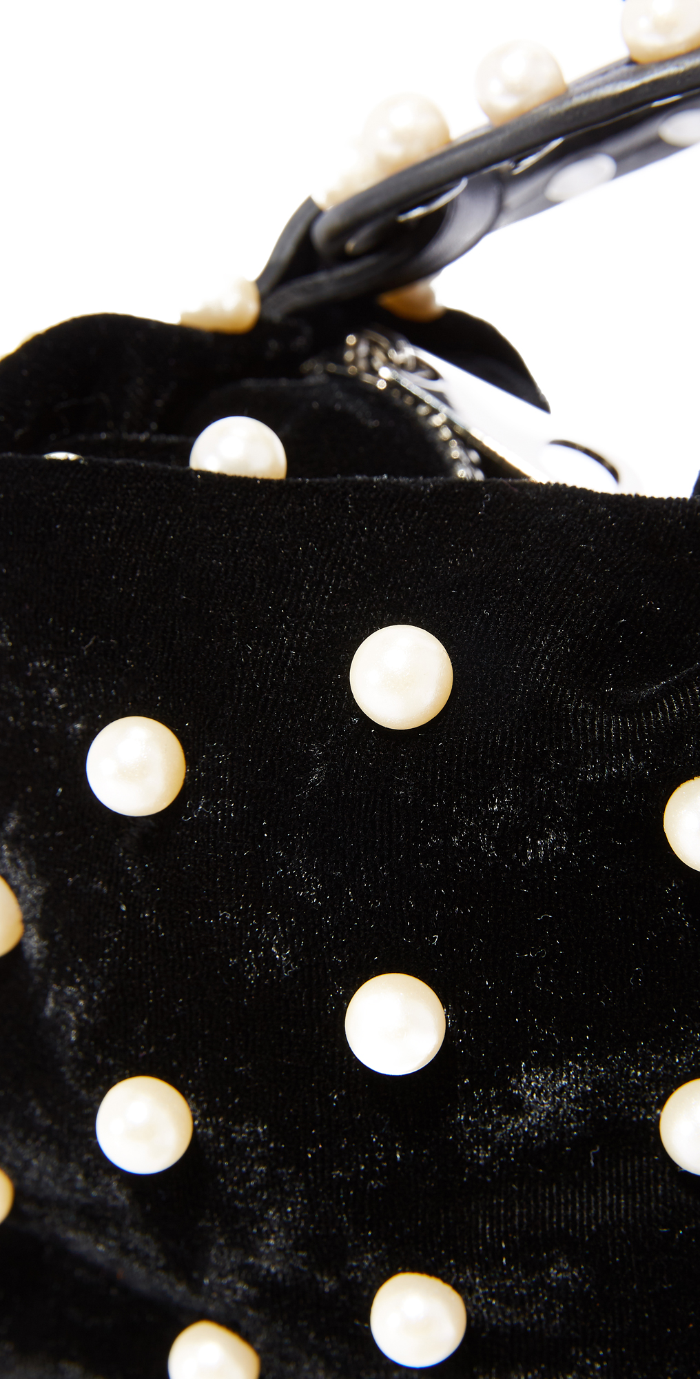 Studio 33 Faux Pearls Wristlet Pouch