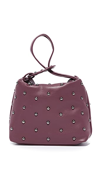 Studio 33 Studded Wristlet Pouch In Burgundy