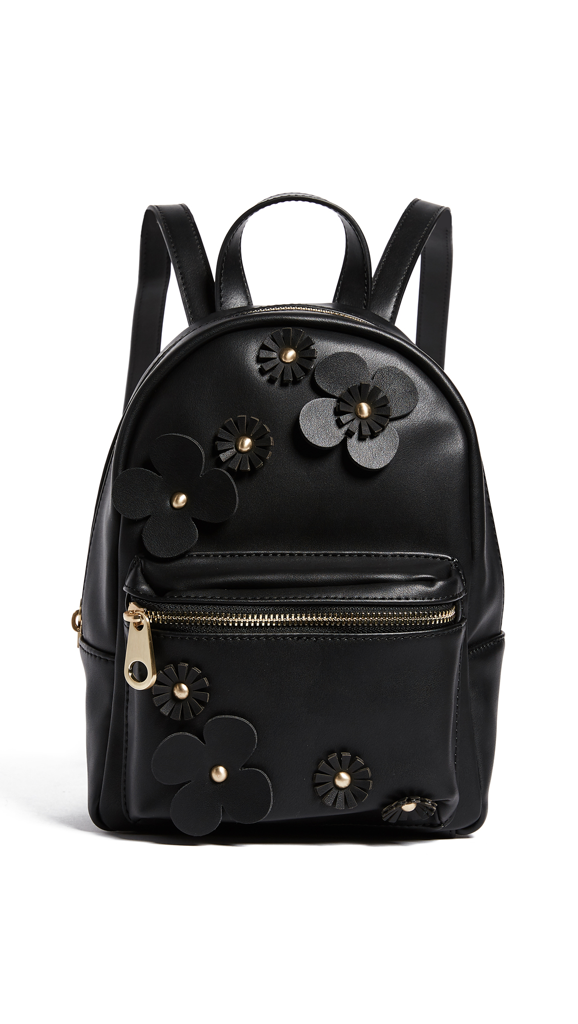 Studio 33 Floral Applique Mini Backpack - Black